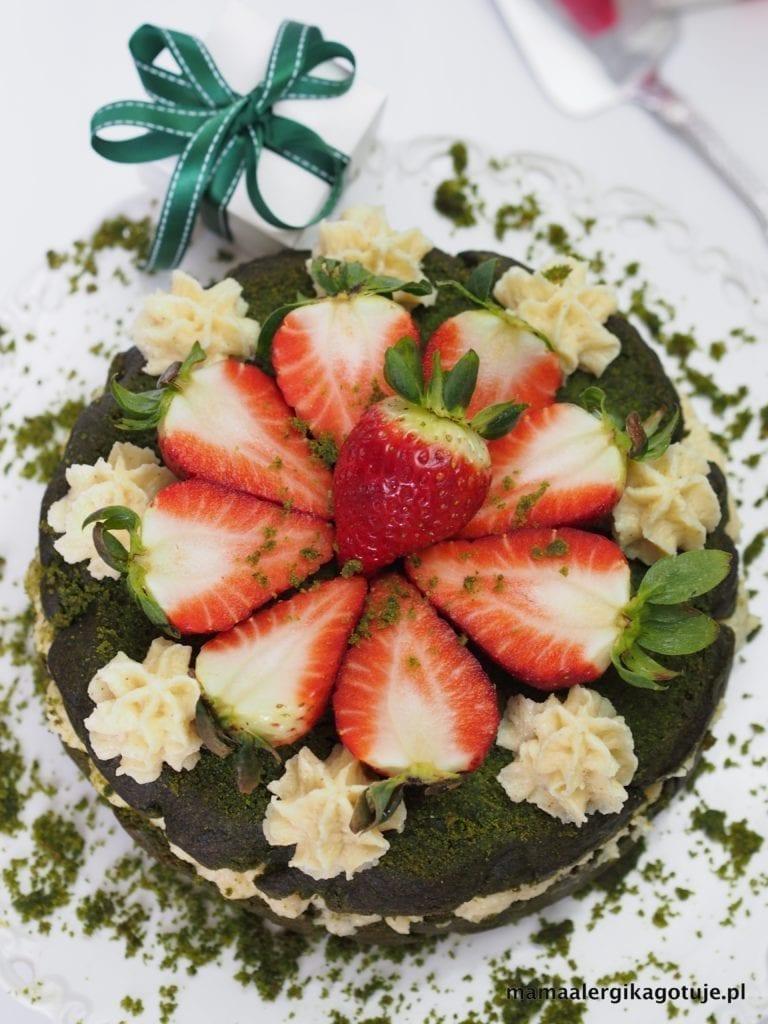 Tort szpinakowy wegański, bezglutenowy